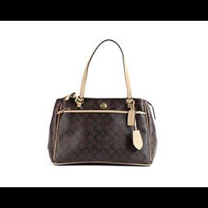 Coach Double Peyton Signature Carryall